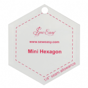 "Sew Easy Mini Hexagon Ruler 2.87"" x 2.5"""